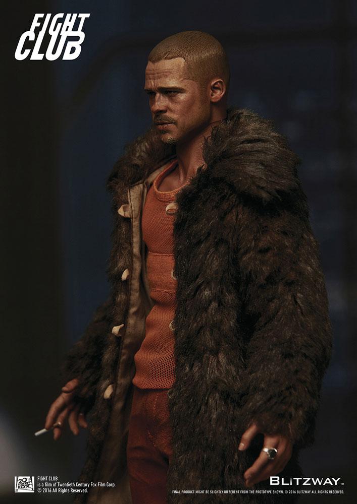 a6e0ae4954 Fight Club Action Figure 1 6 Tyler Durden (Brad Pitt) Fur Coat Ver. 30 cm