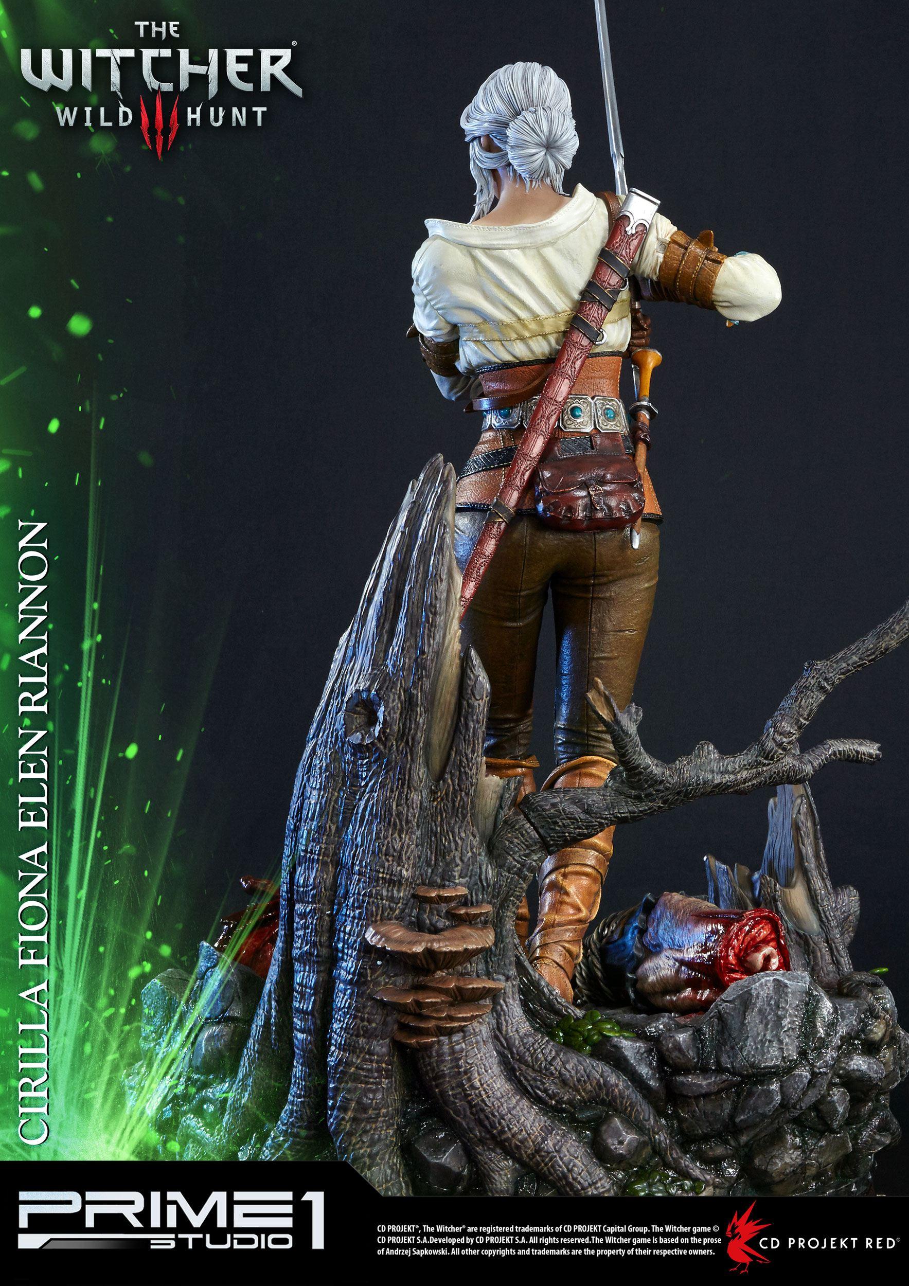 """The Witcher III Wild Hunt Cirilla Fiona Elen Riannon 10/"""" PVC Statue"""