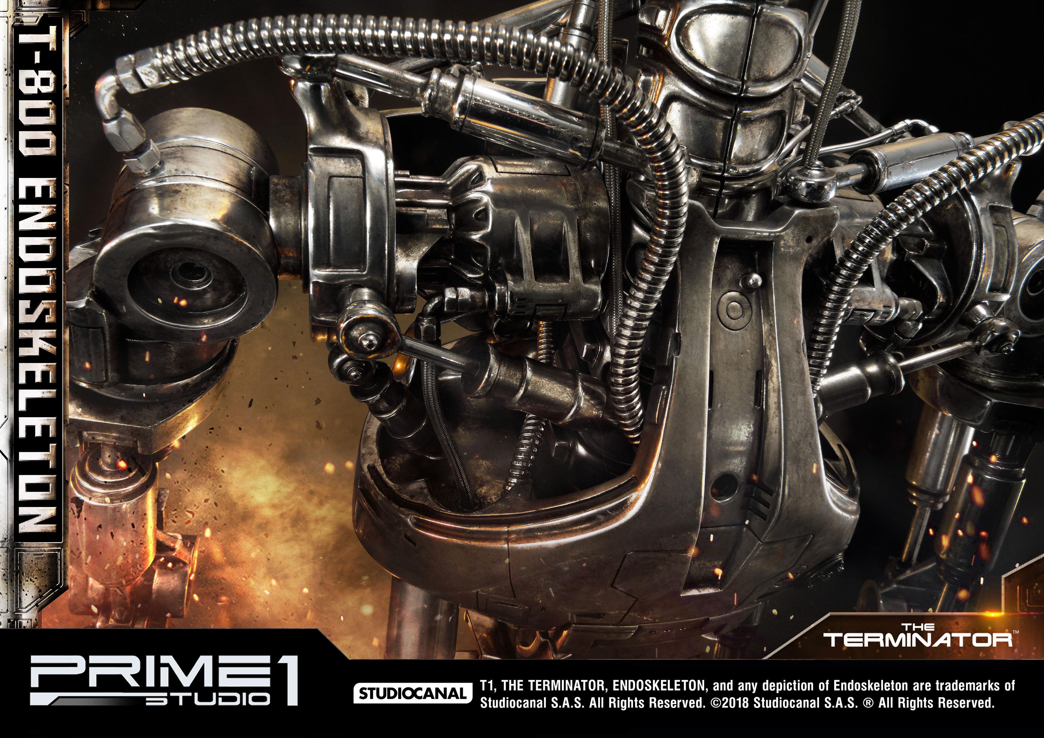 Terminator Statue 1 2 T 800 Endoskeleton 105 Cm