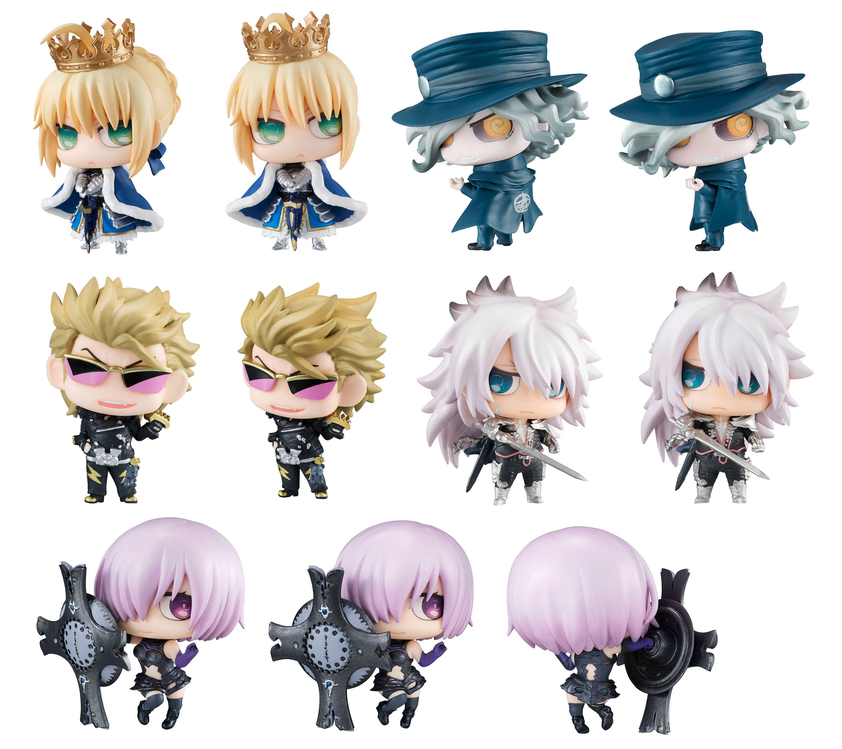 Fate/Grand Order Petit Chara Pretty Soldier Trading Figure 6 cm Chimimega  No  1 Assortment (6)