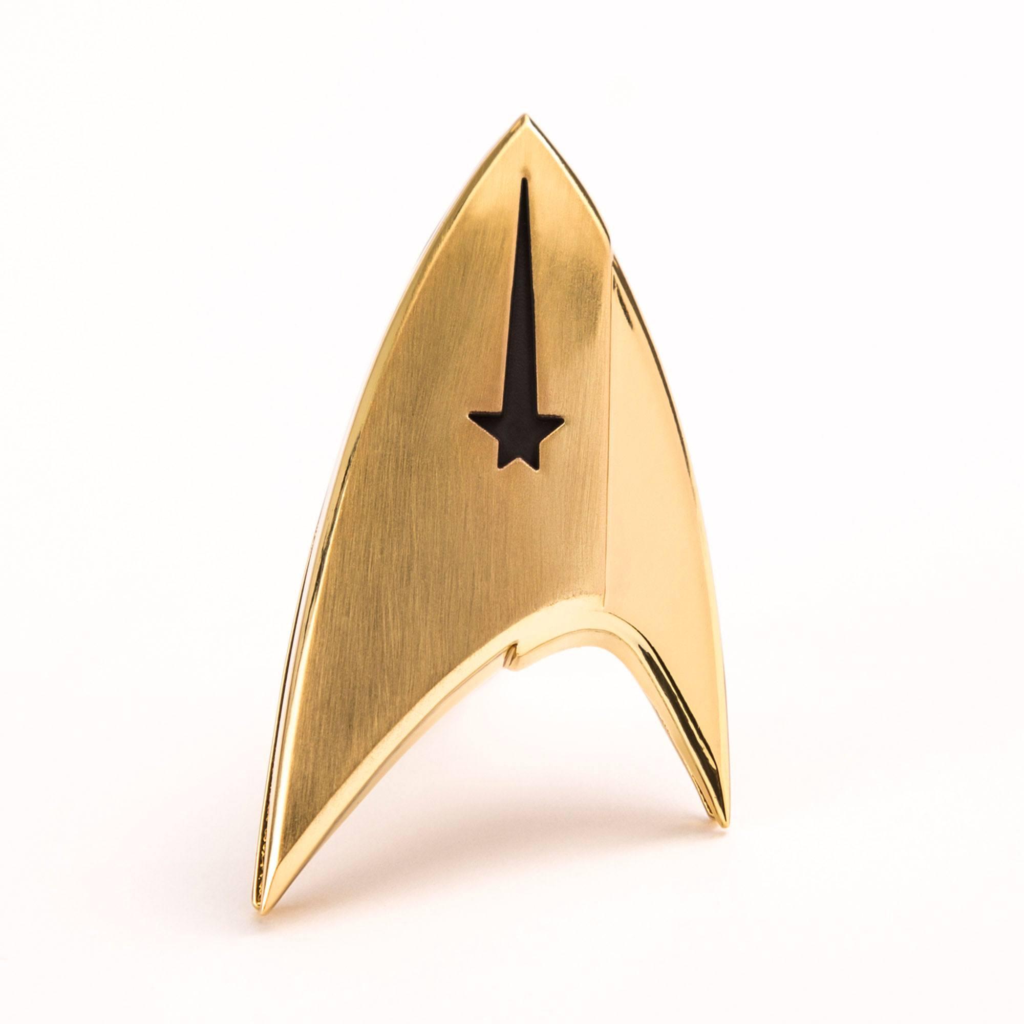Star Trek Discovery QMX Metal Cadet Starfleet Badge Replica NEW IN STOCK