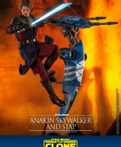 Star Wars The Clone Wars Action Figure 1/6 Anakin Skywalker & STAP 31 cm