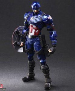 Marvel Universe Bring Arts Action Figure Captain America by Tetsuya Nomura 16 cm