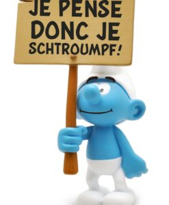 The Smurfs Collector Collection Statue Smurf wit a Sign 18 cm *French Version*
