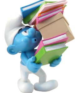 The Smurfs Collector Collection Statue Smurf Stack of Books 17 cm
