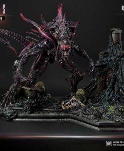Aliens Premium Masterline Series Statue Rogue Alien Battle Diorama 66 cm