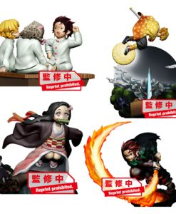 Demon Slayer: Kimetsu no Yaiba Petitrama Series Trading Figure 8 cm Vol. 1 Assortment (4)